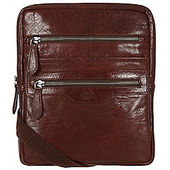 Conkca London - Conker brown 'Bader' vintage-style leather bag