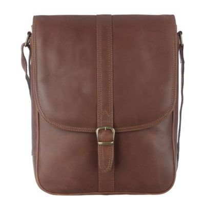Conkca London Brown ´Barnby´ veg-tanned leather satchel - . -