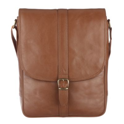 Conkca London Chestnut ´Barnby´ veg-tanned leather satchel - . -