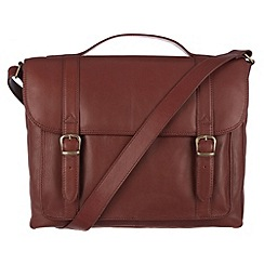 Conkca London - Whiskey 'Newton' veg-tanned leather satchel