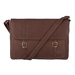 Conkca London - Claret 'Camborne' veg-tanned leather satchel