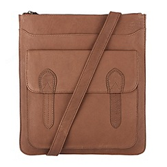 Conkca London - Nut 'Marlow' veg-tanned leather cross-body bag