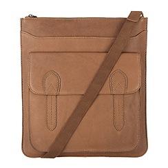 Conkca London - Oak 'Marlow' veg-tanned leather cross body bag