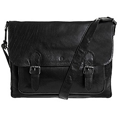 Conkca London - Oxford black 'Baker' leather satchel