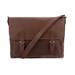 Conkca London - Conker brown 'Baker' vintage leather satchel