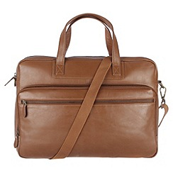 Conkca London - Chestnut 'Stockbridge' veg-tanned leather work bag