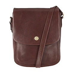 Conkca London - Conker brown 'Lucinda' handcrafted leather cross-body bag