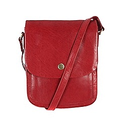 Conkca London - Cranberry 'Lucinda' handcrafted waxed leather bag