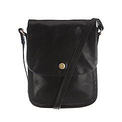 Conkca London - Black 'Lucinda' leather small cross-body bag