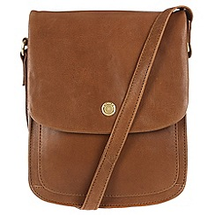 Conkca London - Vintage tan 'Lucinda' handcrafted leather small bag