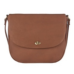 Conkca London - Nut 'Isabella' veg-tanned leather cross body bag