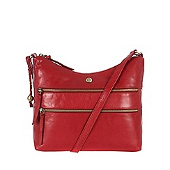 Conkca London - Cranberry 'Ginny' handcrafted waxed leather bag