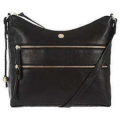 Conkca London - Vintage black 'Ginny' handcrafted leather bag
