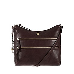 Conkca London - Conker brown 'Ginny' handcrafted leather cross-body bag