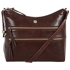 Conkca London - Dark brown 'Ginny' handcrafted leather bag