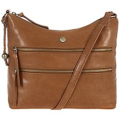 Conkca London - Dark tan 'Ginny' handcrafted waxed leather bag