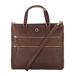 Conkca London - Vintage brown 'Phoebe' veg-tanned leather bag