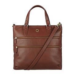 Conkca London - Cognac 'Phoebe' veg-tanned leather handbag