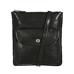 Conkca London - Black 'Lilia' handcrafted leather cross body bag