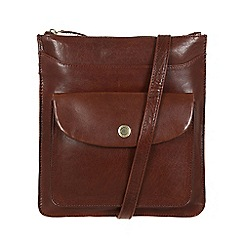 Conkca London - Conker brown 'Lilia' leather cross-body bag