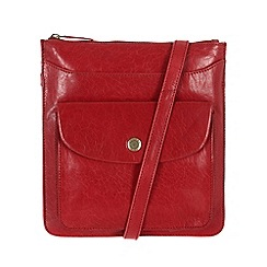 Conkca London - Cranberry 'Lilia' handcrafted waxed leather bag