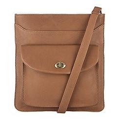 Conkca London - Oak 'Lilia' veg-tanned leather cross body bag