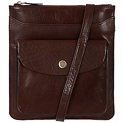 Conkca London - Dark brown 'Lilia' handcrafted leather bag
