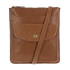 Conkca London - Tan 'Lilia' leather cross-body bag