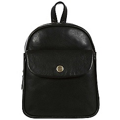 Conkca London - Black 'Eliza' handcrafted leather mini backpack