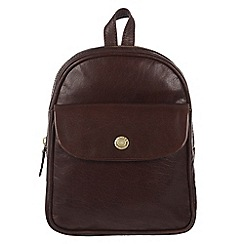 Conkca London - Conker brown 'Eliza' handcrafted leather mini backpack