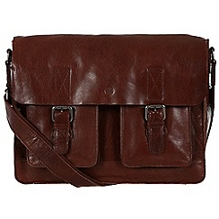 Conkca London - Conker brown 'Midhurst' handcrafted leather satchel