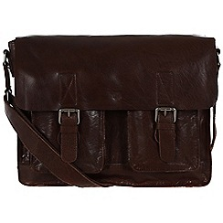 Conkca London - Dark brown 'Midhurst' handcrafted leather satchel