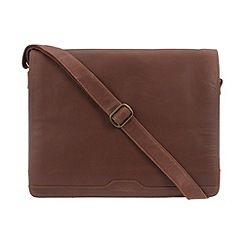 Conkca London - Conker brown 'Darwin' vintage leather messenger bag