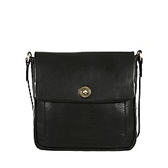 Conkca London - Black 'Nina' handcrafted leather cross body bag