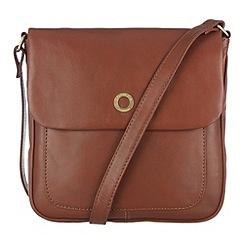 Conkca London - Cognac 'Nina' veg-tanned leather cross body bag