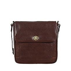 Conkca London - Dark brown 'Nina' handcrafted leather cross-body bag
