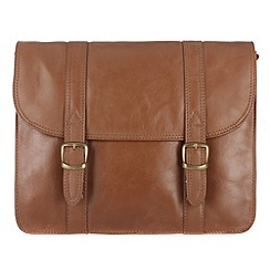 Conkca London - Chestnut 'Hove' veg-tanned leather small satchel