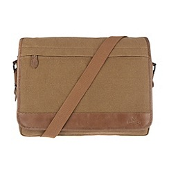 Conkca London - Bark brown 'Fitzrovia' vintage canvas and leather messenger bag
