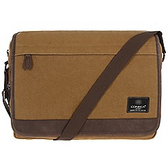 Conkca London - Bark brown 'Fitzrovia' canvas and leather messenger bag