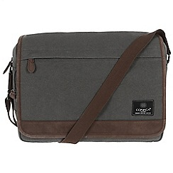 Conkca London - Slate 'Fitzrovia' canvas and leather messenger bag