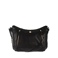 Conkca London - Antique black 'Emilia' tumbled leather cross-body bag