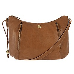 Conkca London - Antique tan 'Emilia' tumbled leather cross-body bag