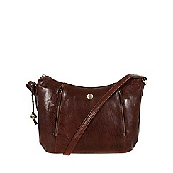 Conkca London - Conker brown 'Emilia' leather cross-body bag
