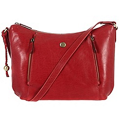 Conkca London - Cranberry 'Emilia' handcrafted waxed leather bag