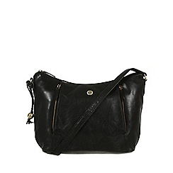 Conkca London - Oxford black 'Emilia' leather cross-body bag