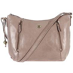 Conkca London - Zinc 'Emilia' handcrafted waxed leather bag