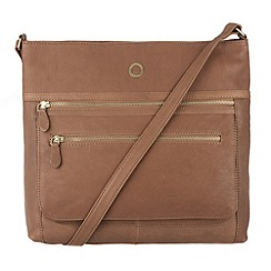 Conkca London - Oak 'Tasmin' veg-tanned leather across body bag