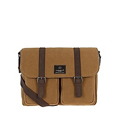 Conkca London - Bark brown 'Borough' canvas and leather satchel
