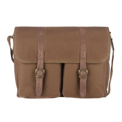 Conkca London Brown ´Borough´ waxed canvas & leather satchel - . -