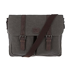 Conkca London - Slate grey 'Borough' canvas and leather satchel